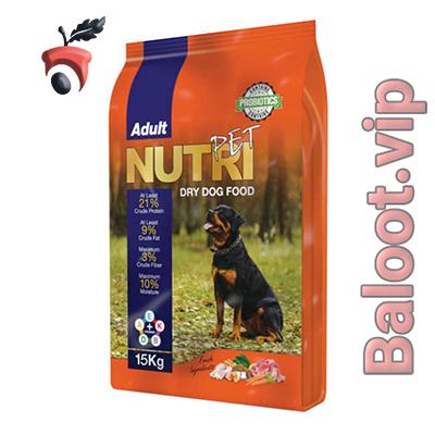 غذای خشک سگ نوتری پت مدل Adult 21 Percent PROBIOTICS