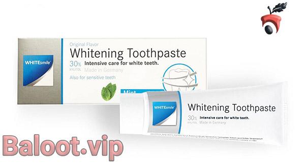 بهترین خمیر دندان سفید کننده وایت اسمایل مدل Whitening