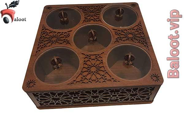 بهترین جعبه پذیرایی طرح اسلیمی-بلوط
