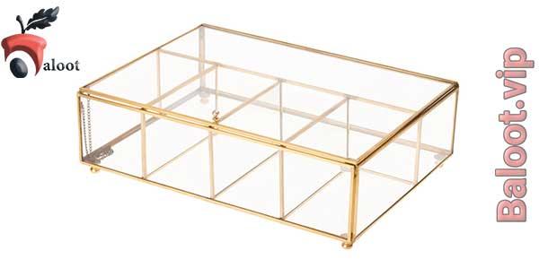 بهترین جعبه پذیرایی شیشه ای-بلوط