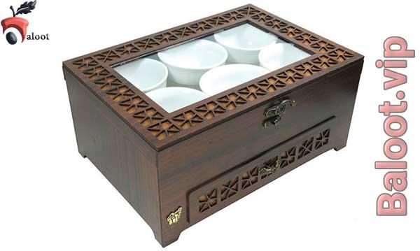 بهترین جعبه پذیرایی لوکس دو طبقه-بلوط