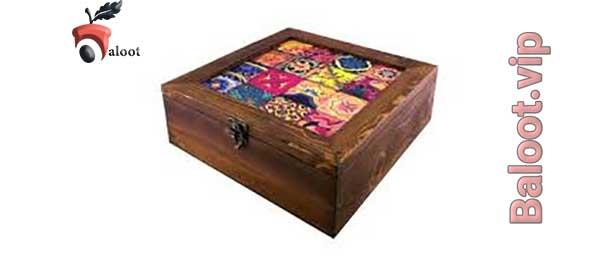 بهترین جعبه دمنوش چوبی-بلوط