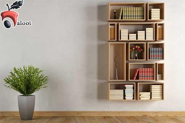 مدل کتابخانه دیواری ساده - بلوط