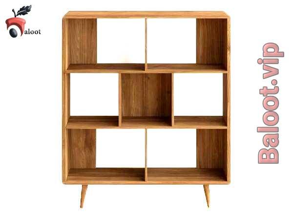 بهترین مدل کتابخانه چوبی - بلوط
