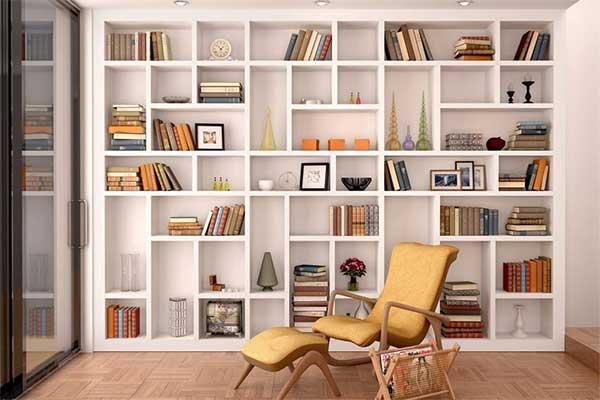 بهترین مدل کتابخانه چوبی و فانتزی و جادار - بلوط
